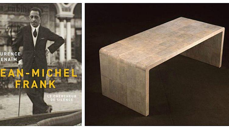 """La couverture du livre Jean-Michel Frank le chercheur de silence"""" et une table basse qui a fait son succès  (Grasset)"""