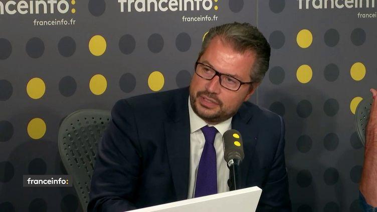L'avocat de Claude Guéant, Philippe Bouchez El Ghozi, le 30 août 2019 sur franceinfo. (FRANCEINFO / RADIOFRANCE)