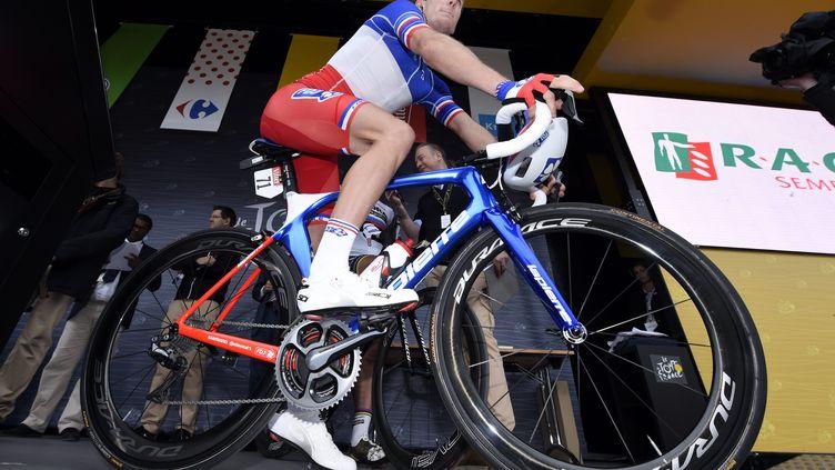 Sixième de la troisième étape, Arnaud Démare ne cache plus ses ambitions sur ce Tour de France.  (ALEXANDRE MARCHI / MAXPPP)