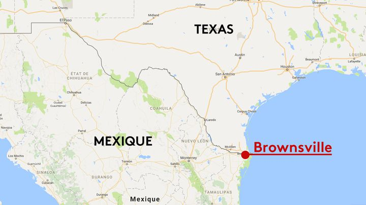 Brownsville au Texas (GOOGLE MAPS / FRANCEINFO / STEPHANIE BERLU)