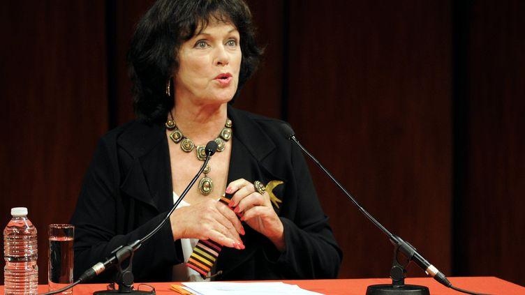 La comédienne Anny Duperey lors de la rentrée littéraire à Nancy (Meurthe-et-Moselle), le 14 septembre 2013. (MAXPPP)