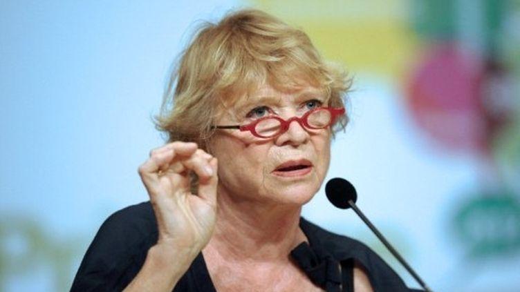 """Eva Joly, officiellement candidate, veut """"représenter la France qui relève la tête"""". (AFP - Remy Gabalda)"""