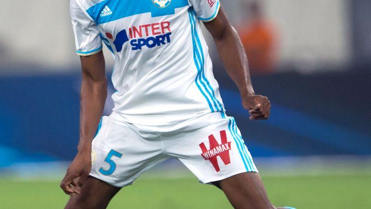Le joueur de l'OM, Abou Diaby (BERTRAND LANGLOIS / AFP)