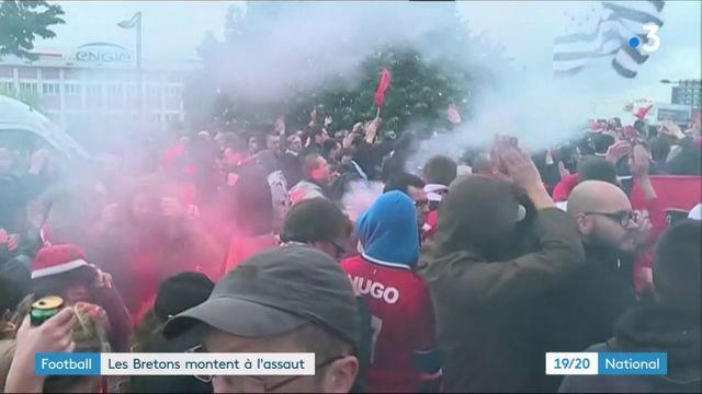 Football : les supporters de Rennes viennent en masse pour la finale de Coupe de France face au PSG