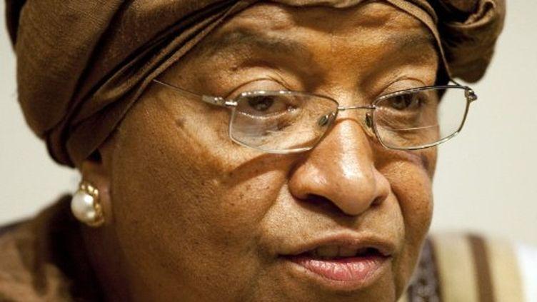 La présidente du Libéria Ellen Johnson Sirleaf faisait figure de favorite. (JIM WATSON / AFP)