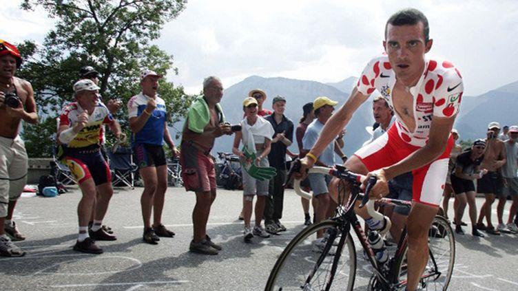 Richard Virenque sur le Tour de France 2004 (PATRICK KOVARIK / AFP)