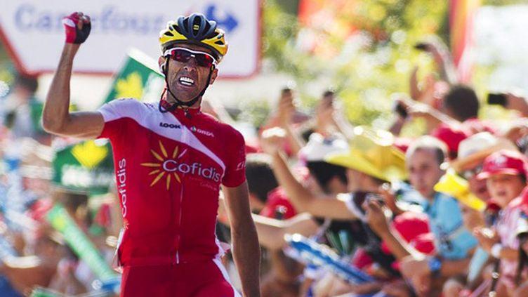 Daniel Navarro vainqueur de la 13e étape de la Vuelta 2014 (JAIME REINA / AFP)