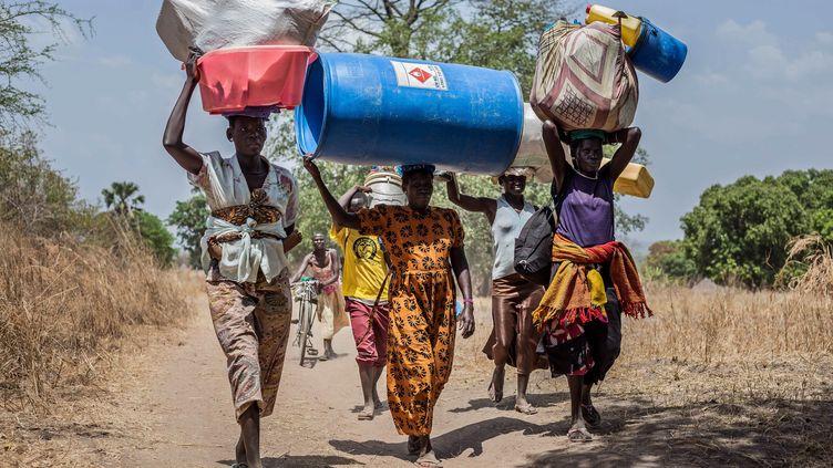 Depuis la guerre civile au Soudan du Sud en 2013, plus de quatre millions d'habitants ont fui, ici en Ouganda en 2017. (MAXPPP)