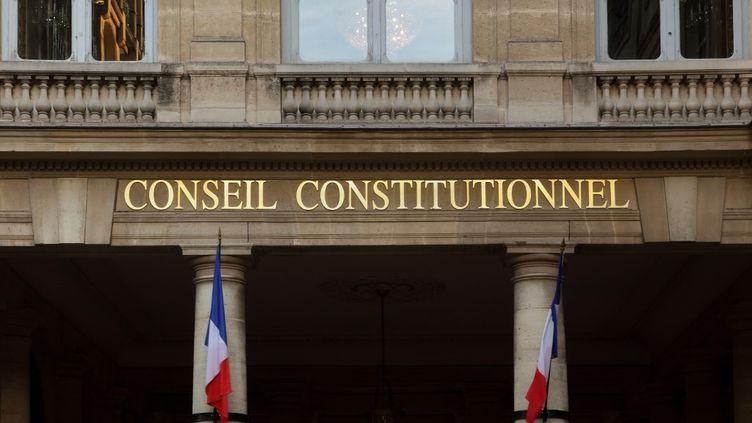 La façade du Conseil constitutionnel, dans le 1er arrondissement de Paris, en octobre 2019. (MANUEL COHEN / AFP)