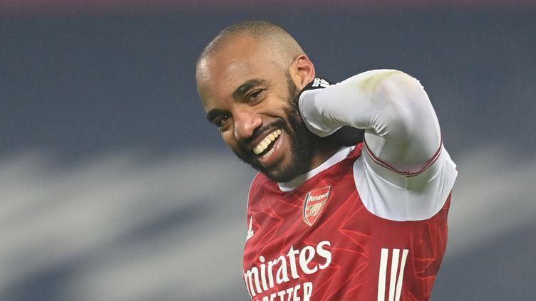 Alexandre Lacazette a inscrit un doublé avec Arsenal (MICHAEL REGAN / POOL)