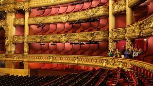 La salle de l'Opéra Garnier à Paris  (LUDOVIC MARIN / AFP)