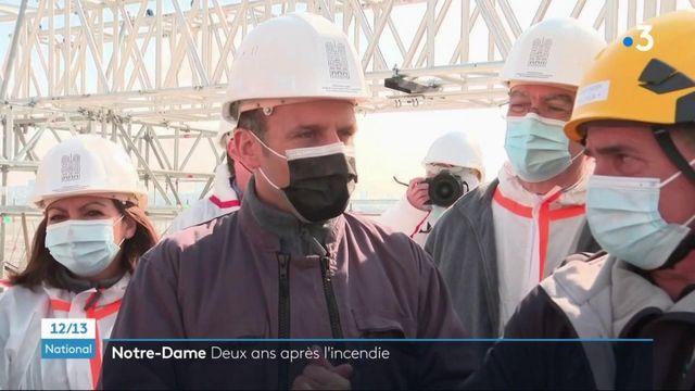Notre-Dame-de-Paris : Emmanuel Macron se rend sur les lieux, deux ans après l'incendie