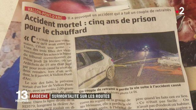 Ardèche : surmortalité sur les routes