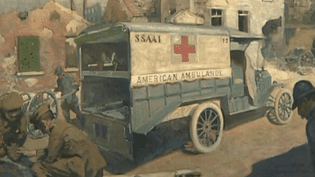 Un tableau exposé à Blérancourt  (France 3 Culturebox capture d'écran)