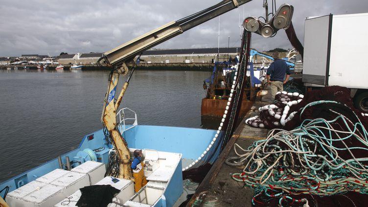 février 2011 - bateau de pêche àConcarneau (Finistère) (NICOLAS THIBAUT / AFP)