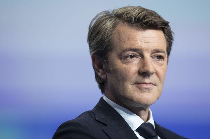 François Baroin au congrés des maires de France à Paris, le 21 novembre 2019. (THOMAS SAMSON / AFP)