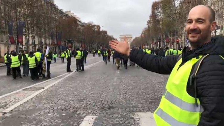 """Frédéric Turon, électricien alsacien """"gilet jaune"""" (FRANCEINFO)"""