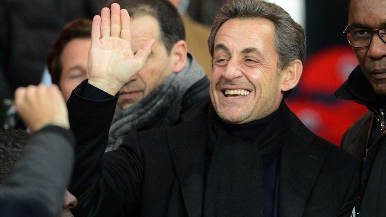 Nicolas Sarkozy, le 24 février 2013, au Parc des Princes à Paris. (GUY JEFFROY / SIPA)