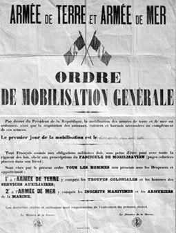 L'odre de mobilisation générale du 1er août 1914  (Archives / AFP)