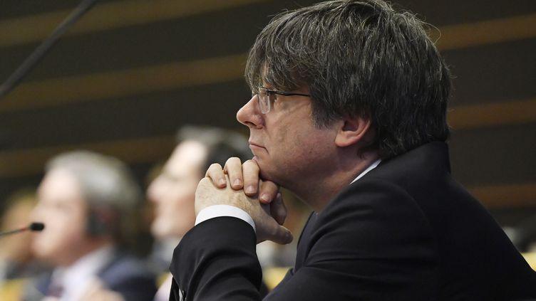 Carles Puigdemont, leader indépendantiste catalan, à Bruxelles (Belgique), le29 janvier 2020. (JOHN THYS / AFP)