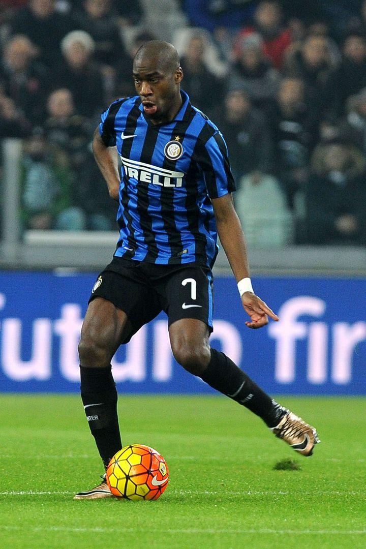 Le milieu de terrain de l'Inter Milan, Geoffrey Kondogbia