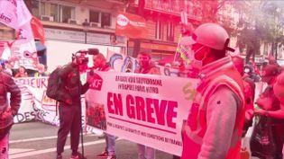 Grève du 5 octobre:grandes manifestations contre les conditions de travail (France 3)