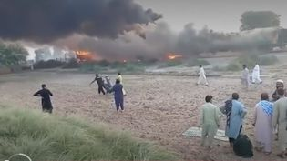 Incendie train pakistan (France 2)