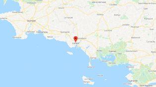 Lorient,dans le département du Morbihan, en région Bretagne. (GOOGLE MAPS)