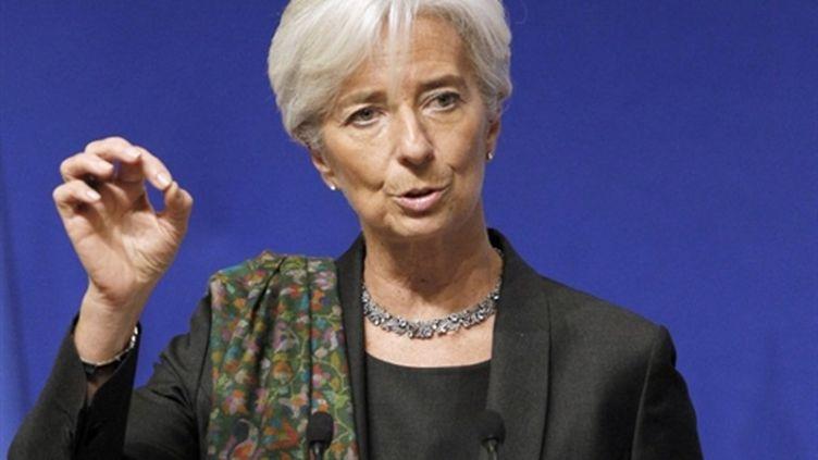 La ministre de l'Economie Christine Lagarde s'exprime lors des Rencontres de l'Export, le 10 février 2011 à Paris. (AFP - Patrick Kovarik)