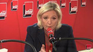 Marine Le Pen, invitée de France Inter le 16 mai 2019. (France Inter)