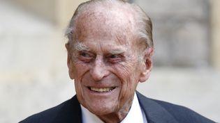 Le prince Philip, au château de Windsor, au Royaume-Uni, le 22 juillet 2020. (ADRIAN DENNIS / AFP)