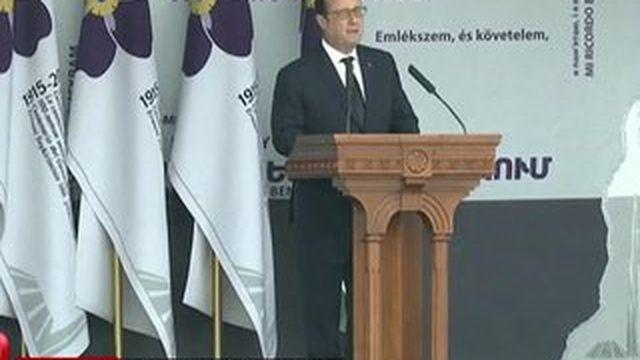 François Hollande appelle la Turquie à reconnaître le génocide arménien