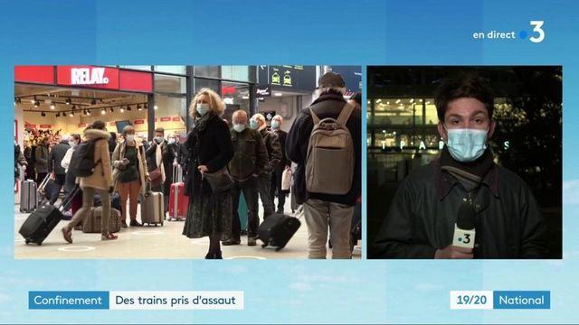 Confinement : une affluence massive à la gare Montparnasse
