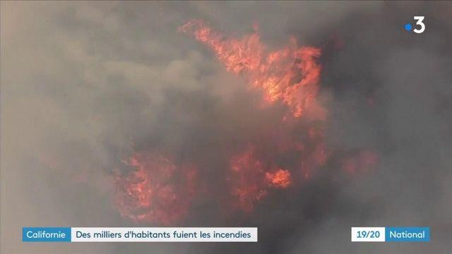 Californie : des milliers d'habitants fuient les incendies