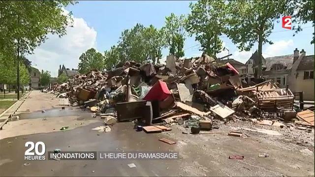 Nemours : après les inondations, l'heure est au ramassage des déchets