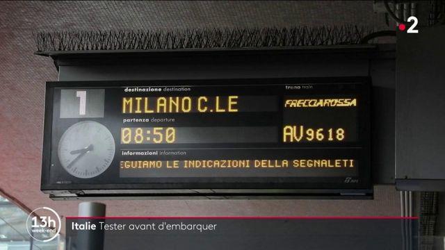 Italie : sur la ligne Rome-Milan, un test antigénique obligatoire