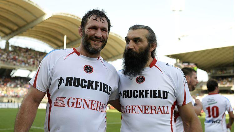 Lionel Nallet et Sébastien Chabal (ROMAIN LAFABREGUE / AFP)