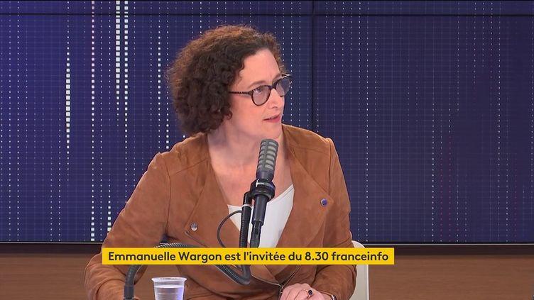 Emmanuelle Wargon, ministre déléguée auprès de la ministre de la Transition écologique, chargée du Logement, invitée de franceinfo. (FRANCEINFO / RADIOFRANCE)