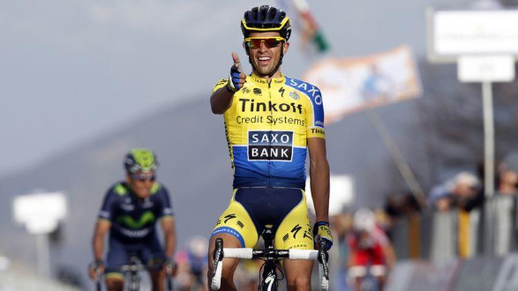 Alberto Contador (Tinkoff) avait chargé son pistolet (YUZURU SUNADA / BELGA MAG)