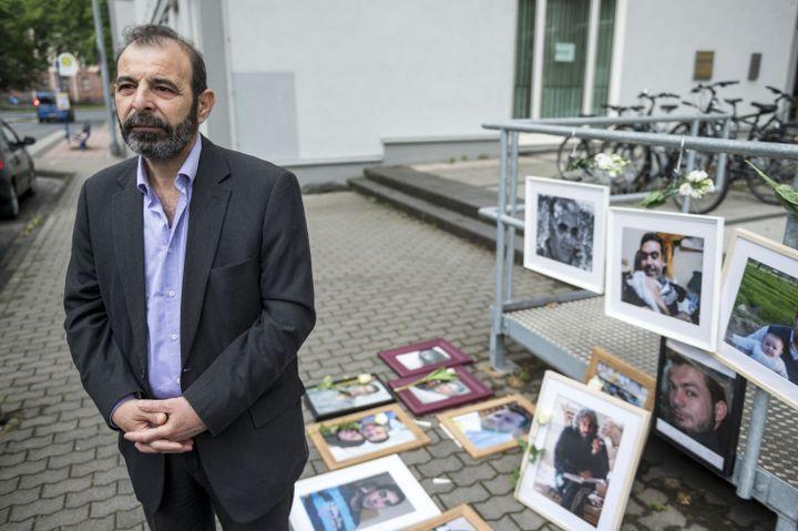 L'avocat syrien Anwar Al-Bunni lors du procès de Coblence(Allemagne), le4 juin 2020. (THOMAS LOHNES / AFP)