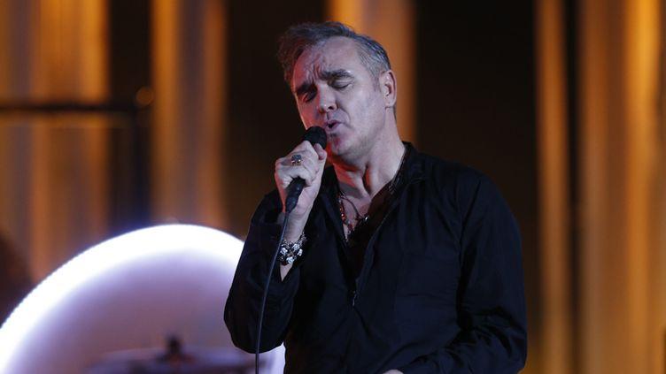 Morrissey à Oslo le 11 décembre 2013, au concert du Prix Nobel  (Terje Bendiksby / NTB Scabpix Mag / AFP)