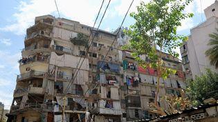 Le quartier populaire de Khan Dak al Ghamik, dans la capitale libanaise, près d'une semaine après la double explosion. (NATHANAEL CHARBONNIER / FRANCE-INFO)