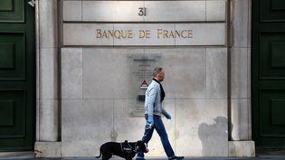 La Banque de France, à Paris, le 27 mars 2020. (FRANCK FIFE / AFP)
