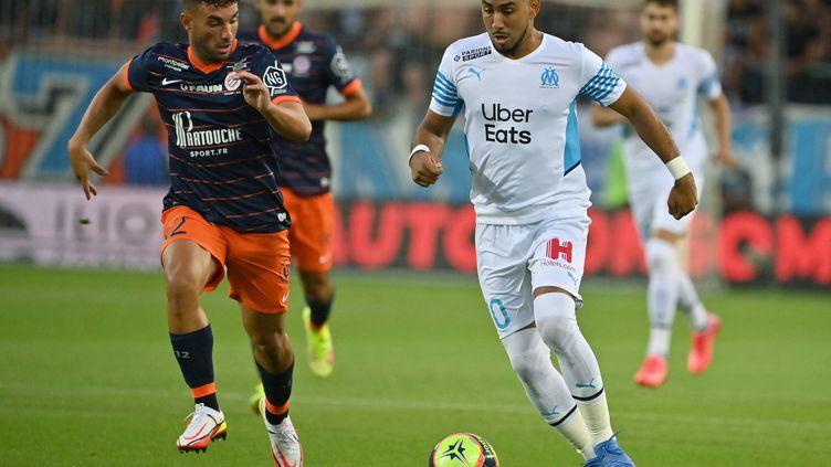 Dimitri Payet a inscrit un doublé face à Montpellier dimanche 8 août dont un superbe coup franc dont lui seul a le secret. (PASCAL GUYOT / AFP)