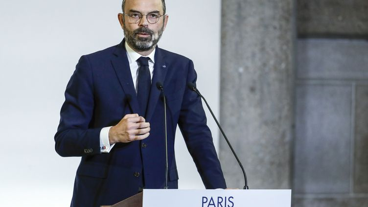 Le Premier ministre, Edouard Philippe, révèle les détails de sa réforme des retraites devant le Conseil économique et social, le 11 décembre 2019 à Paris. (THOMAS SAMSON / POOL)