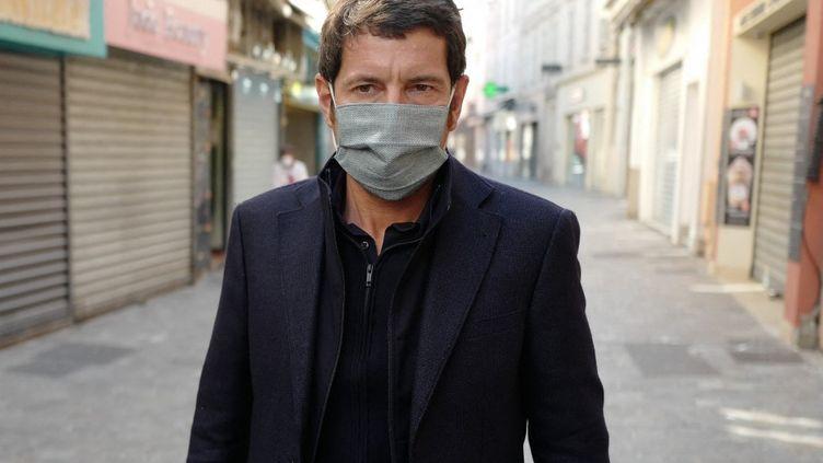 Le maire de Cannes, le 8 avril 2020. (VALERY HACHE / AFP)