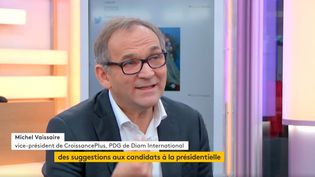 Michel Vaissaire, vice-président de Croissance Plus (FRANCEINFO)