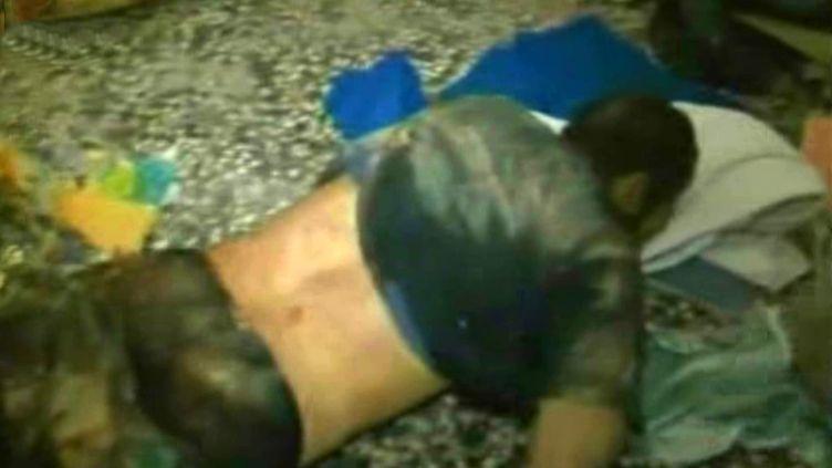Document de l'agence syrienne Sana, montrant le cadavre d'un rebelle dans la région deQousseir, en Syrie, le 4 juin 2013. ( SANA / AFP)