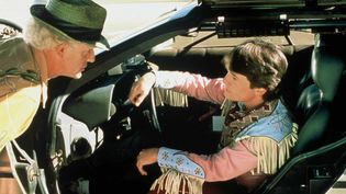 "Christopher Lloyd et Michael J. Fox dans ""Retour vers le futur III""  (Nana Productions / SIPA)"