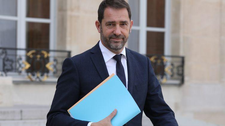 Le porte-parole du gouvernement, Christophe Castaner, à l'Elysée, le 18 octobre 2017. (LUDOVIC MARIN / AFP)